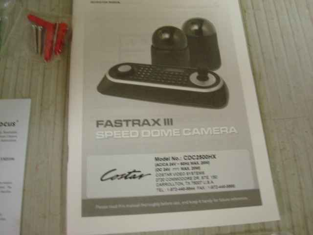 COSTAR CDC2500HX COSTAR PTZ HIGH SPEED FASTRAX III SECURITY DOME CAMERA CDC2500HX